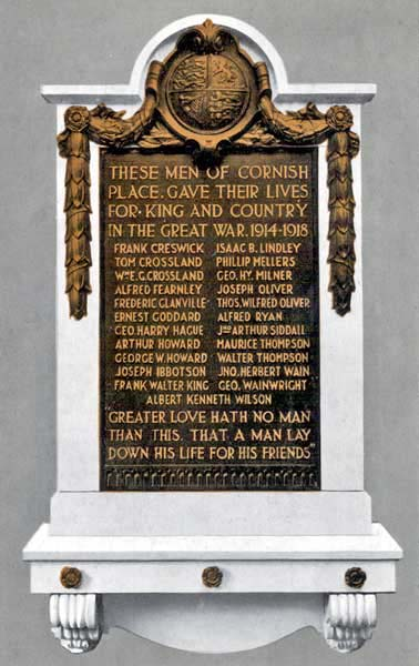 Dixon's Cornish Place Memorial