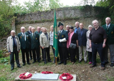 The Connaught Rangers Association at the execution site with its commemorative plaque.  17 September 2O11