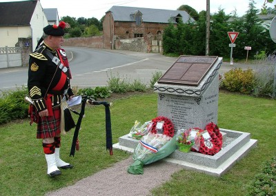 The Iron 12 Memorial, with Jock's Piper