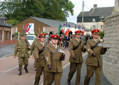 Parade Entering Cemetery at Guise