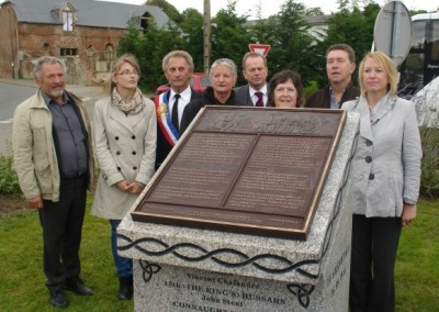 Relatives of the Soldiers and M. Chalandre, The Mayor of Iron and Chairman of the Iron Memorial Fund, Hedley Malloch