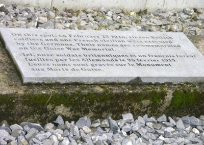 The Spot Marked Where the Twelve were Executed at the Chateau in Guise